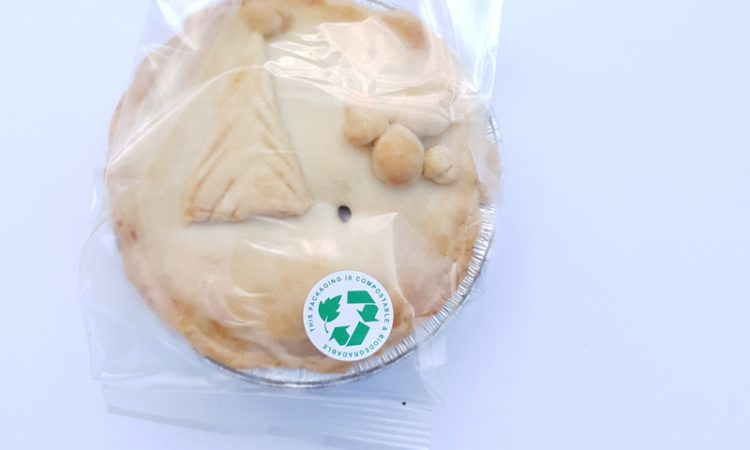 Festive pie in bio-degradeable wrap