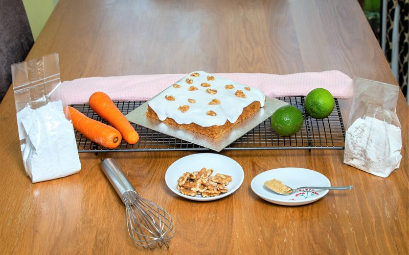 All you need for the carrot cake.