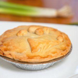 A freshly baked festive pie